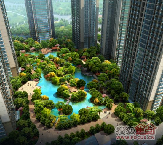 中心庭院景观效果图图片