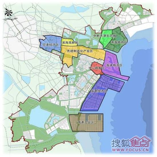 新生态城滨海旅游规划图 有谁知道天津中新生态城在行政规划高清图片