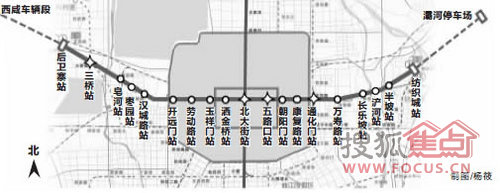 地铁1号线线路图-地铁一号线开通 三桥 西咸新区房产再度受热捧