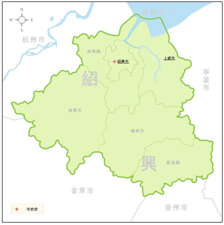 浙江上虞地图高清版