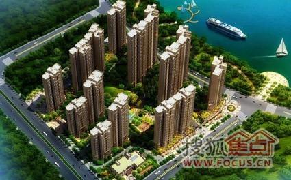 长沙南山新城房地产开发有限公司建造的大河西国际滨江新城高清图片