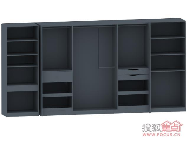 衣柜内部结构图-莫干山单身公寓改造 9㎡卧室也可拥有步入式衣柜