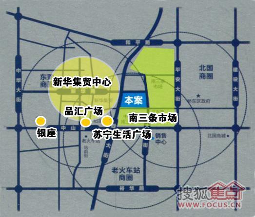 郫县景尚景手绘商圈图