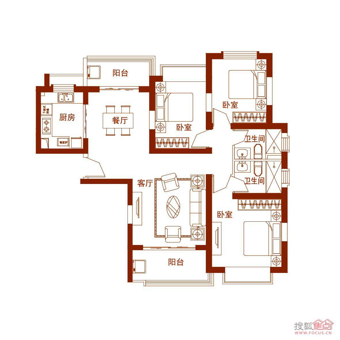 新闻中心 - 搜狐焦点网; 【恒大绿洲】恒大绿洲户型图(2/6张);