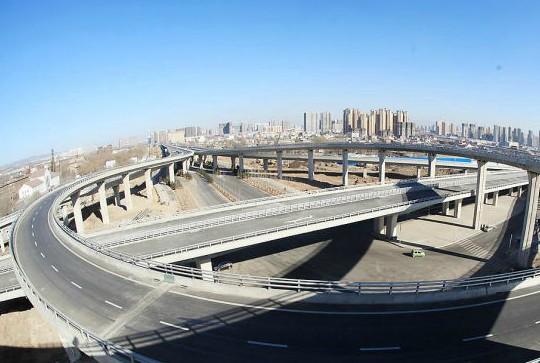 太原立交最新进展 西中环与南中环互通立交桥 图