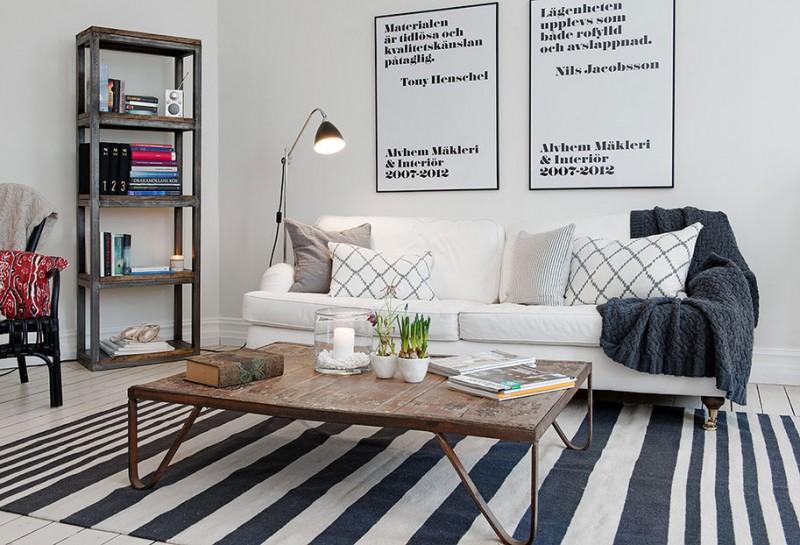 清新的风 北欧黑白主题简约公寓