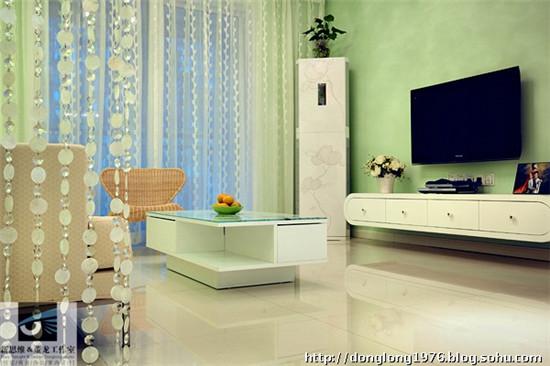 自然清新绿色美家 现代简约两室两厅装修设计 高清图片