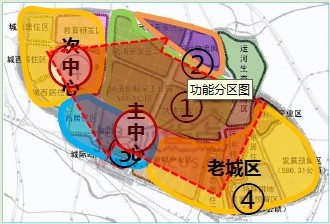 """武清新城规划——明确""""两轴、一带、双中心、四大功能区""""的布局结"""