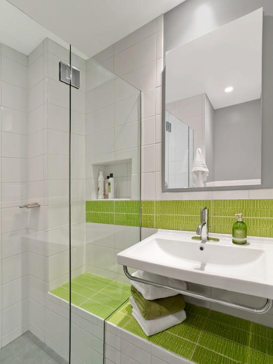 营造自然清新 16个绿色系卫生间设计赏
