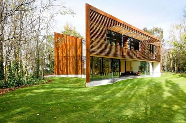 外观上,整座乡村建筑以为在田园景观之中.图片
