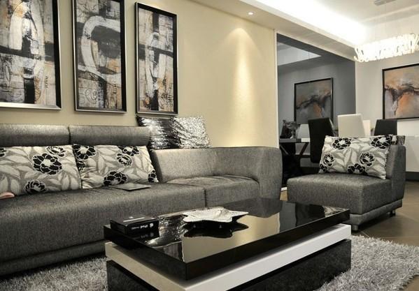 半包12万装修80平 打造两室两厅简约风格家高清图片