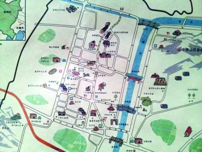 常州孟河古镇有了手绘旅游地图
