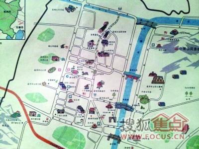 哈尔滨景点手绘地图