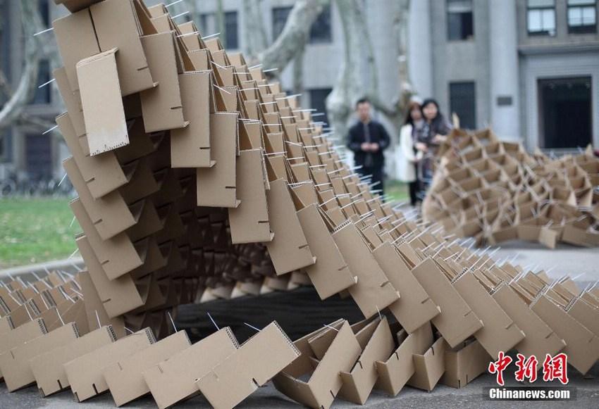 手工制作纸板房