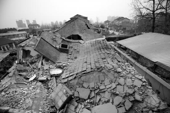 20年的老房子突然倒塌