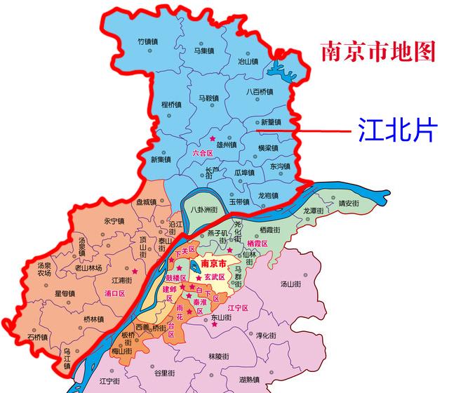 南京地图-江北1