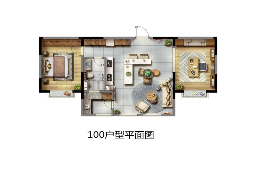 华新城二居室100平_华新城户型图-南京搜狐焦点网
