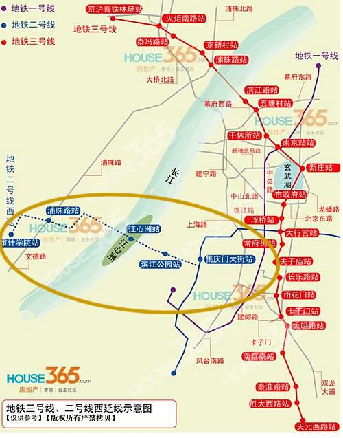 南京地铁二号线路线