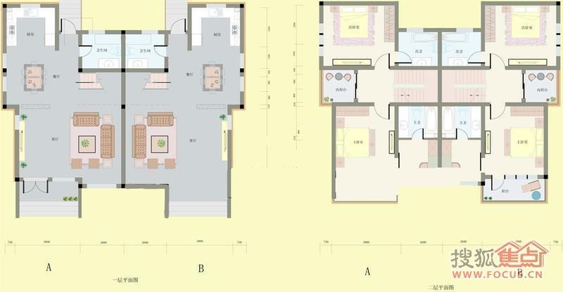 华洲凤凰小镇一期别墅d户型2室2厅3卫1厨287.08㎡-2室2厅3卫-287m