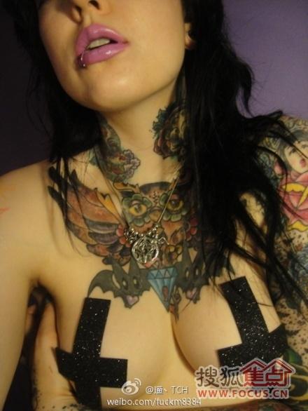 纹身一向就不是低调的事儿_ 看美女的奇特纹身