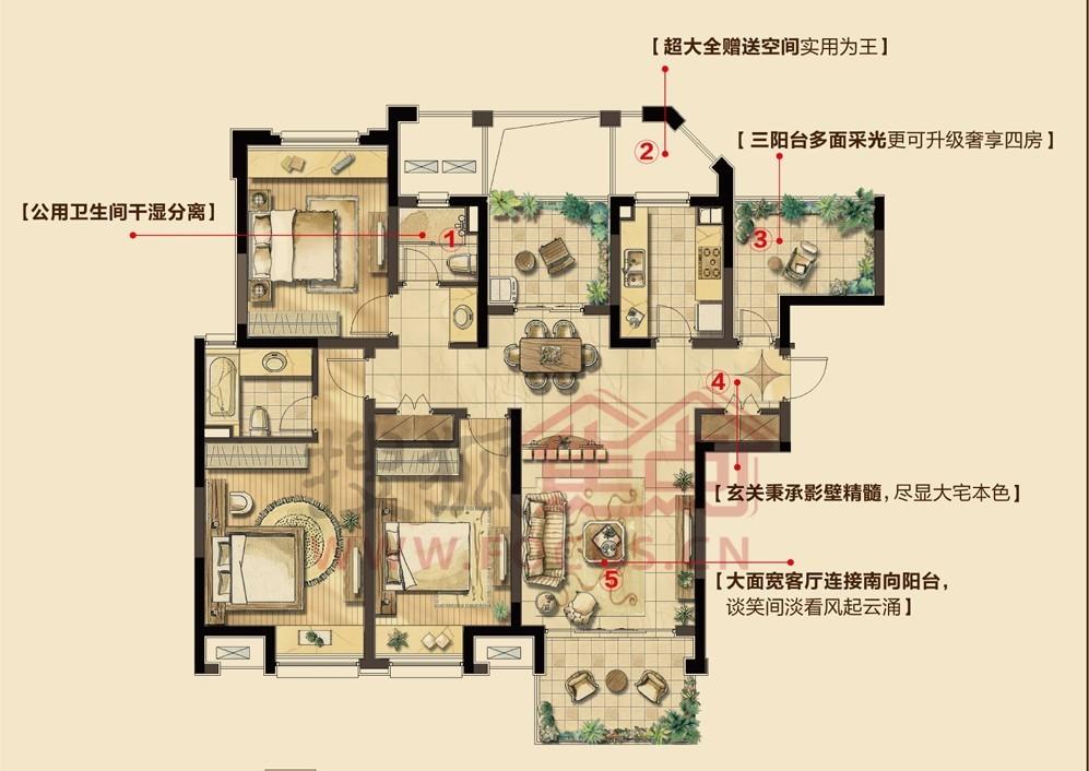 绿地新里紫峰公馆户型图