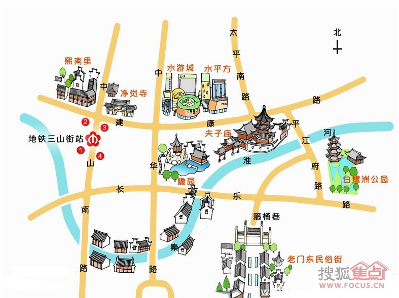 乘地铁 游南京 手绘地图告诉你元宵灯会怎么看