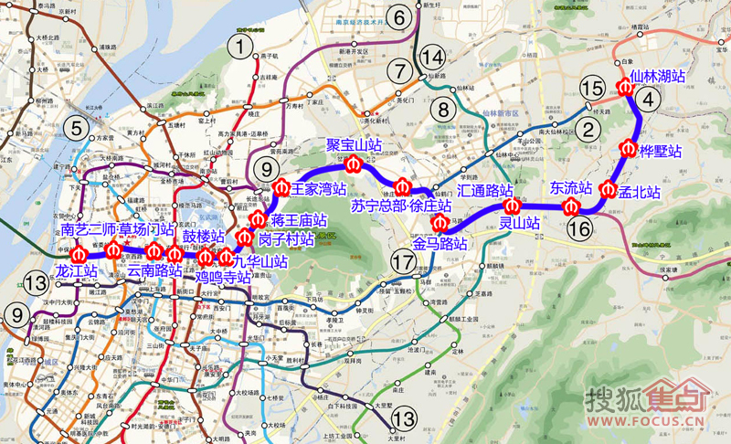 地铁四号线最新路线图出炉-南京市地铁四号线图片