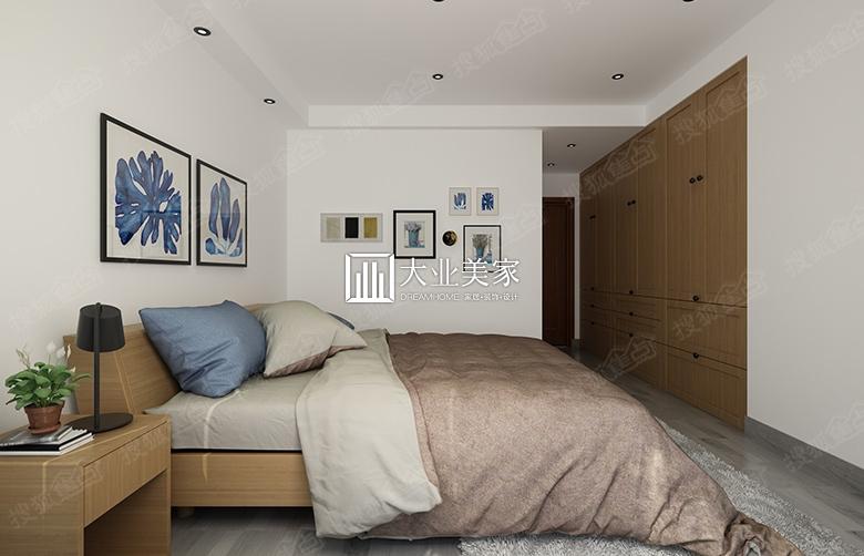 绿地国际花都123平米北欧风格卧室装修效果图