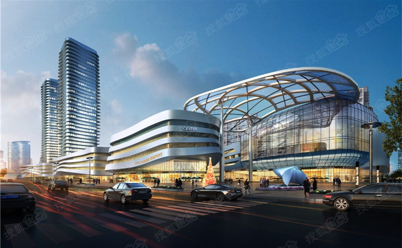 五洲城建设东路沿街透视图
