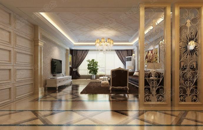 青岛实创装饰-14万打造凯景广场158平三居室温馨典雅之家