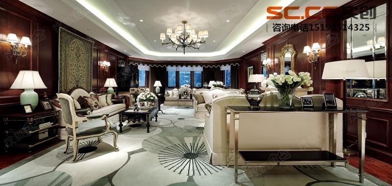 大宅别墅美式装修风格|青岛实创装饰