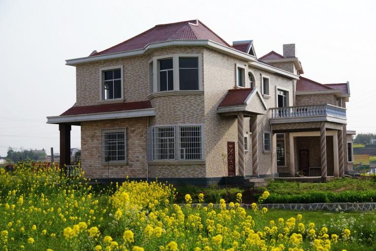 农村别墅二层带院墙