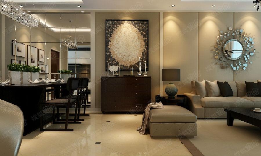 实创装饰 小区88平米现代风格装修高清图片