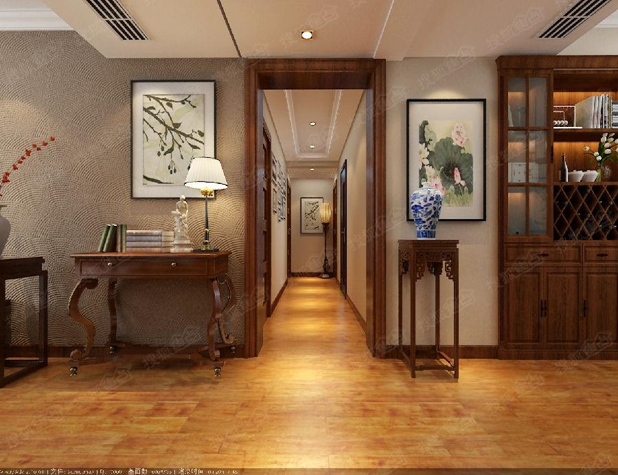 【卓越蔚蓝群岛】120平三居室 简约中式风格 装修效果图片