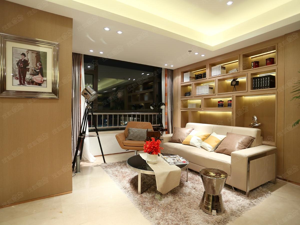 万达·青岛东方影都精装公寓样板间-会客区