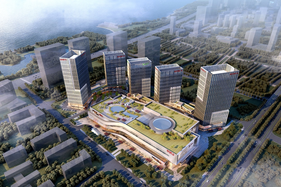 青岛城市传媒广场鸟瞰效果图图片