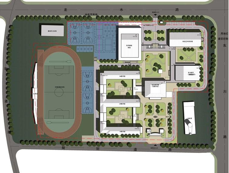 东川路小学平面图