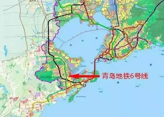 青岛地铁1 16号完整版站点及坐标 买哪儿升值一目了然