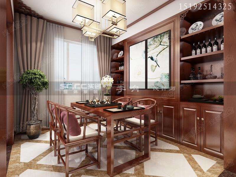 12万打造112平保利茉莉公馆三居室新中式装修设计|青岛实创装饰