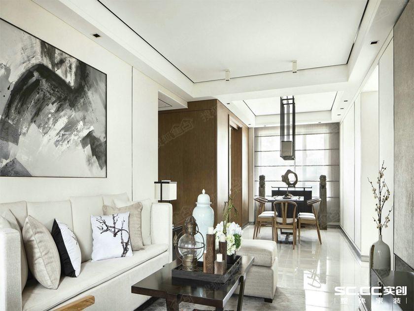 水墨江南,新中式180㎡联排别墅,青岛龙湖高清图片