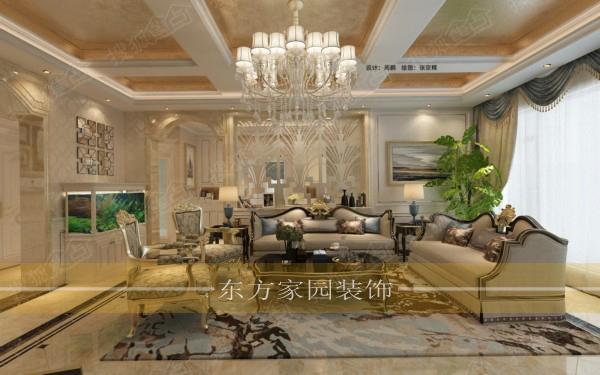 欧式风格装修效果图施工设计报价|青岛东方家园装饰
