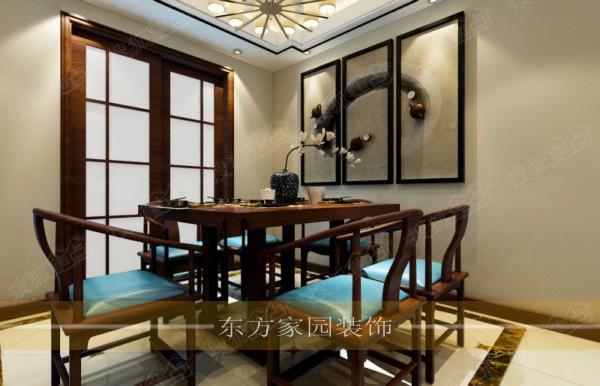 崂山大户型午山馨苑180平大平层中式风格装修效果图施工样板间图片