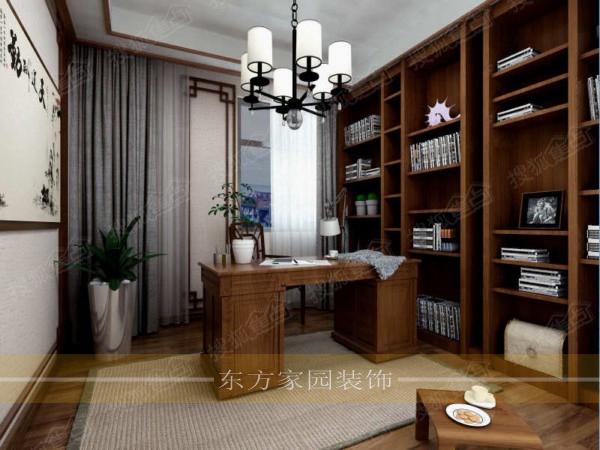 崂山大户型午山馨苑180平大平层中式风格装修效果图施工样板间