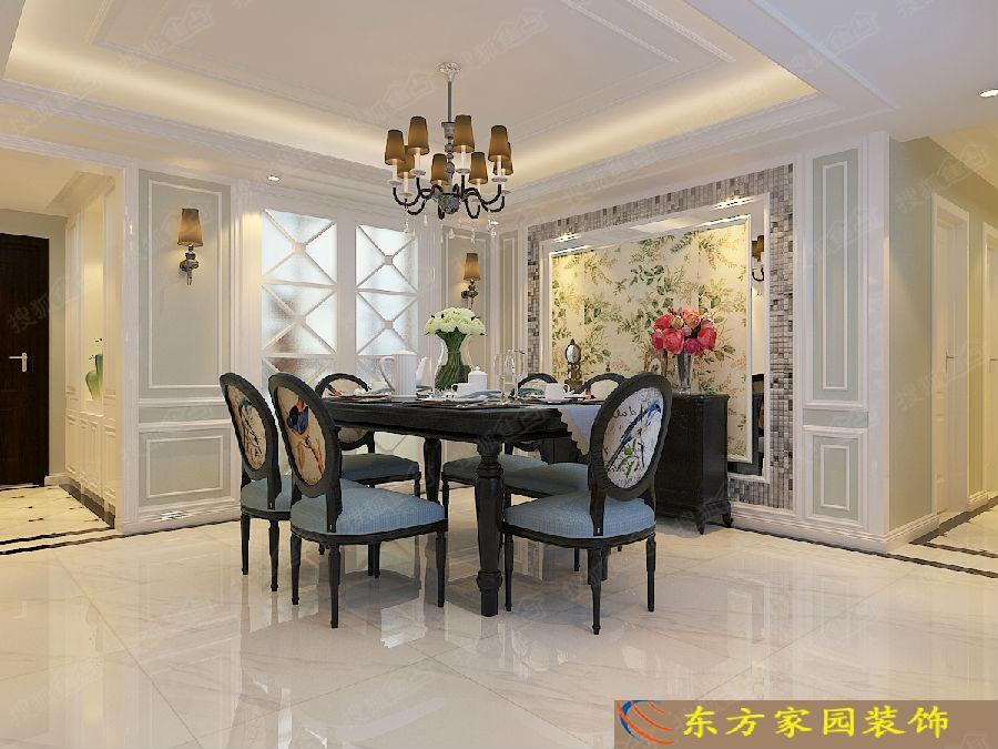 青岛晓港名城5期168平大户型欧式风格装修样板间图片