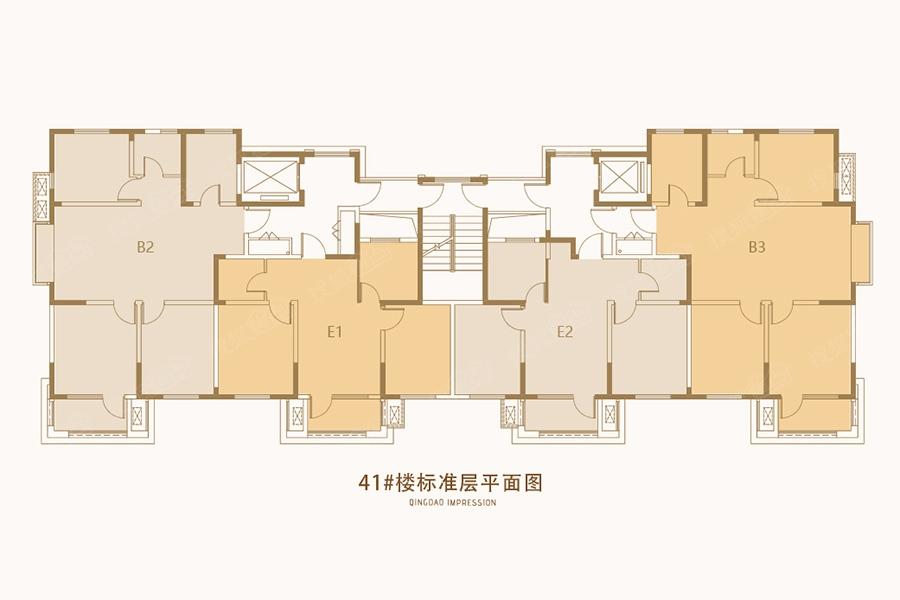 青岛印象湾41 楼层平面图
