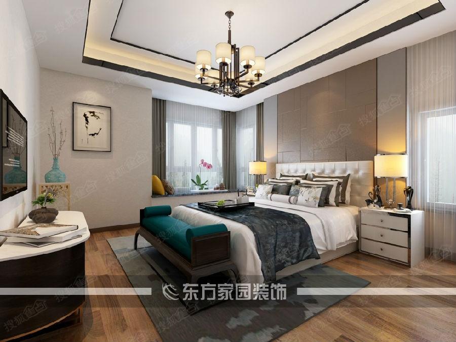 东方家园装饰装修公司|晓港名城169平新中式装修设计案例赏析