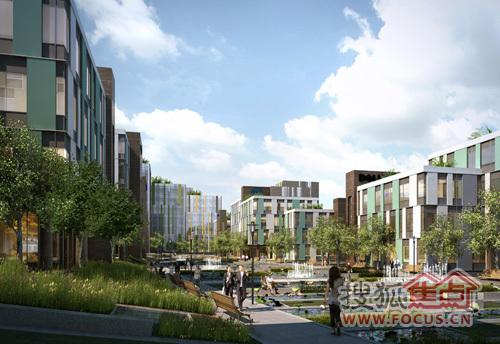 全屋顶空中花园,生态型办公,实现商务与自然的零距离