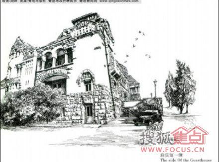 青岛风景图片 钢笔画