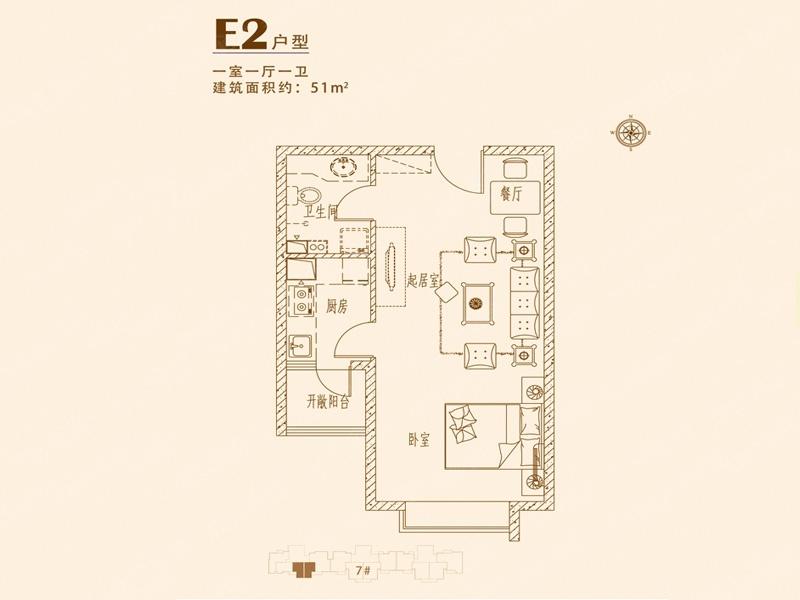 万和城-v1-1室0厅1卫-33.00�O