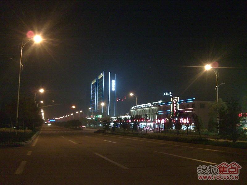 北戴河新区的滨海大道夜景-戴河新城-秦皇岛搜狐焦点